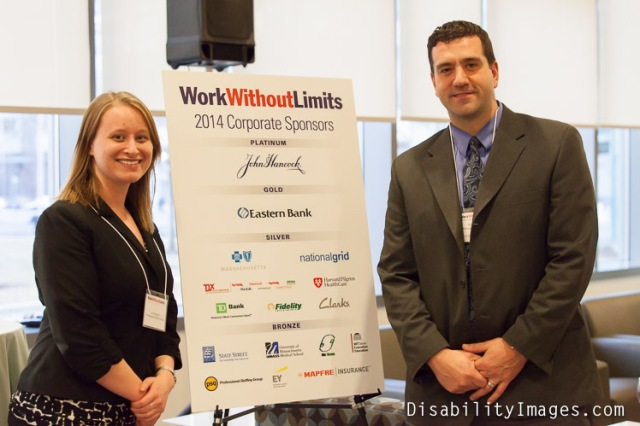 Sean Pulera and Jennifer Shepherd, PSG Onsite Staffing Managers at BCBS, attend 2014 Work Without Limits FriendsRaiser