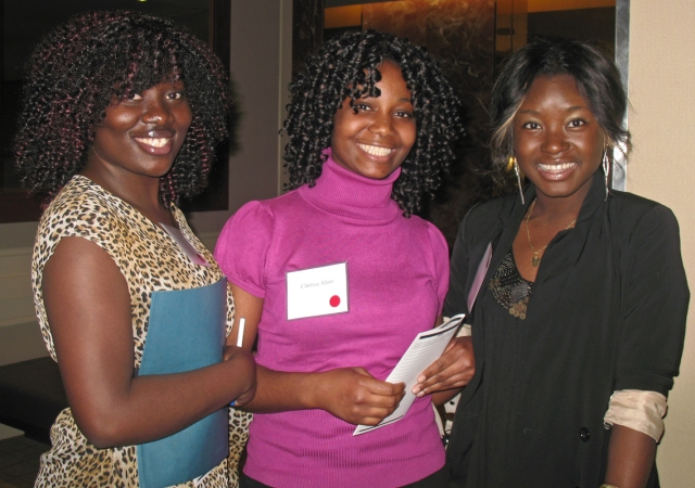 Students Agnes Oppong, Clarrisa Afum and Evon Dankwah attended Bottom Line's 2012 Go Far Forum in Boston.
